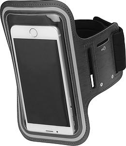 Pouzdro na mobil k připevnění na rameno, černé