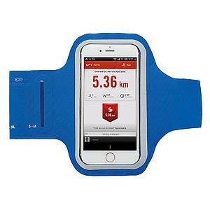 Sportovní popruh na paži na telefon, modrý