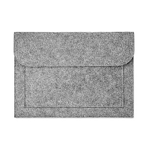 LENTINO Plstěný obal na notebook, šedý
