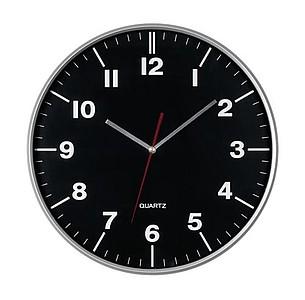 Nástěnné hodiny s tenkým rámem a strojkem Quartz