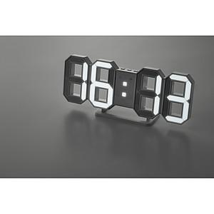 Digitální nástěnné LED hodiny s adaptérem do zásuvky