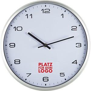 Nástěnné hodiny s místem pro potisk, bílé