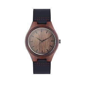 Analogové hodinky s koženým páskem, hnědé