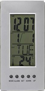 DIVA Stolní hodiny s teploměrem a kalendářem, s baterií