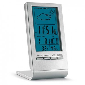 Indikátor počasí s modrým LCD displejem