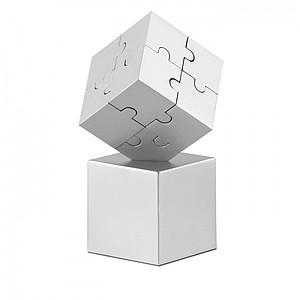 Kovové 3D puzzle jako těžítko, stříbrná