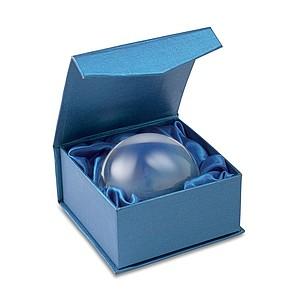 Těžítko - skleněná koule a lupa v dárkové krabičce, transparentní