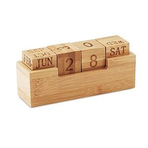 Nekonečný bambusový kalendář na stůl