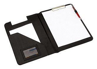 psací podložka s klipem A4, PVC, nylonová, černá