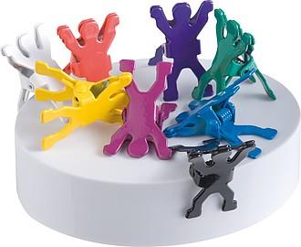 Sada 8 barevných klipů ve tvaru postaviček