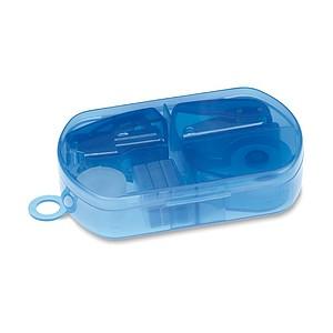 Kancelářská sada v plastovém boxu, modrá