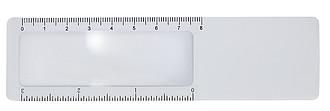 Lupa s 8cm pravítkem jako záložka do knihy