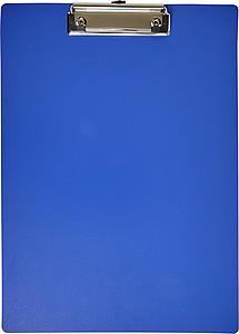 Plastová psací podložka s klipem, modrá