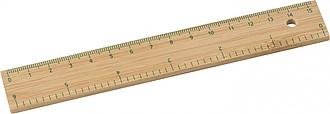 Bambusové pravítko, 15cm - reklamní kancelářské potřeby