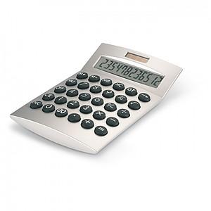 KLANAN Plastová solární kalkulačka, stříbrná