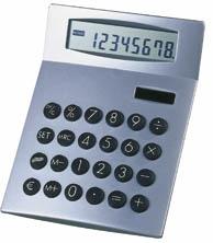 Kalkulačka Euro, stříbrná