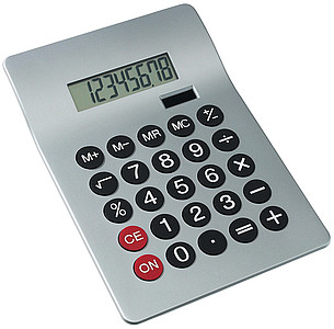 kalkulačka stolní stříbrná
