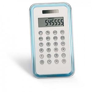 8-číselná kalkulačka, transparentní modrá