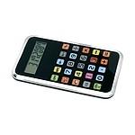 CALCOD Osmimístná kalkulačka s barevnými tlačítky, černá