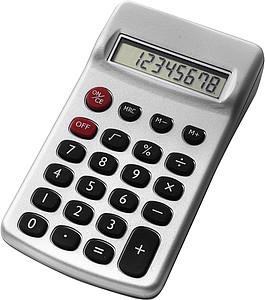 EMIL Kapesní kalkulátor, stříbrný - reklamní kancelářské potřeby