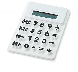 Ohebná silikonová kalkulačka, bílá