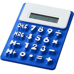 Ohebná silikonová kalkulačka, královská modrá
