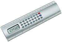 kalkulačka v pravítku 20cm stříbrná