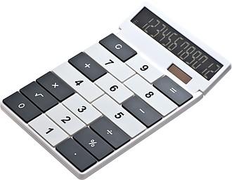 Plastová dvanáctimístná kalkulačka s duálním nabíjením