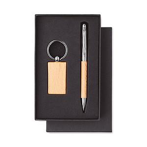 TASARA Set KP s modrou náplní a klíčenky - reklamní kancelářské potřeby