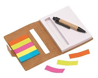 FLIKY Zápisník s KP, černá n., a barevnými lepícími lístky