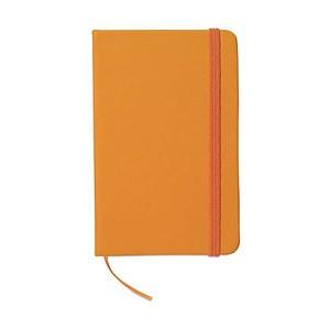 Blok v deskách s uzavíráním na gumičku, oranžová