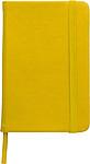 DEPUTY A6 Linkovaný blok se záložkou a gumičkou, 96 listů, žlutý