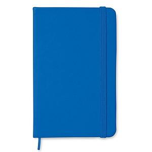Blok v deskách s uzavíráním na gumičku, barva královská modrá