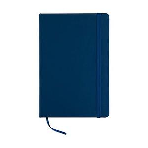 Poznámkový blok A5 v PU obalu, modrá