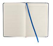 DEPUTY A5 Linkovaný blok A5 se záložkou a gumičkou, 96 listů, modrý - reklamní bloky
