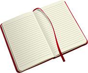 DEPUTY A5 Linkovaný blok A5 se záložkou a gumičkou, 96 listů, červený