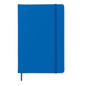 Poznámkový blok A5 v PU obalu, barva královská modrá