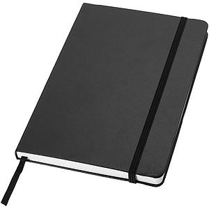 KALON Zápisník A5 se záložkou, 80 stran, černý
