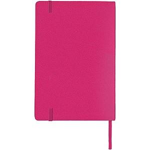 KALON Zápisník A5 se záložkou, 80 stran, růžová
