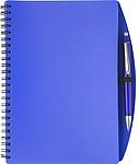 LIBERO A5 Linkovaný blok s kuličkovým perem, obal modrý - reklamní bloky