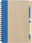 ADMINA Blok, linkovaný recykl.papír, 60listů, s KP, modrá náplň,modrý - reklamní bloky