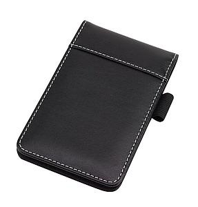 Zápisník s poutkem na pero, černý
