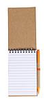 Linkovaný blok, 70 stran, s KP, modrá n., a gumička,oranžová