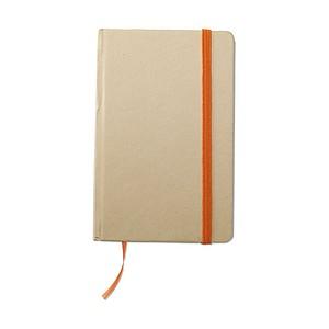 Recyklovaný zápisník s gumičkou, blokem, 96 stránek oranžová