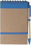Linkovaný blok, 70 stran, s KP, modrá n., a gumička, modrá - reklamní bloky