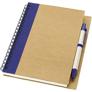 Souprava recyklovatelného zápisníku a kuličkového pera, tmavě modrá