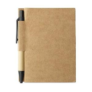 OWARIN Malý zápisník z recyklovaného papíru, černý