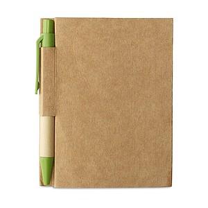OWARIN Malý zápisník z recyklovaného papíru, zelený - reklamní bloky