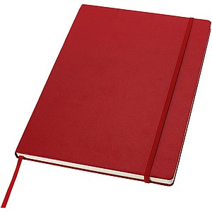 PINAF Zápisník formátu A4 se zavíráním na gumičku, červená