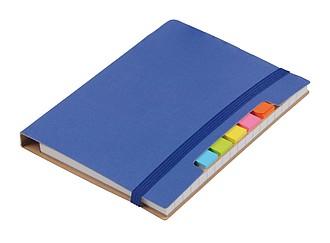 KORDON Malý zápisník s kuličkovým perem s černou náplní, modrý